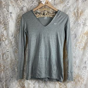 Nike Athletic Grey Thin Sweater Hooded Sweatshirt